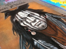 Chalk art by Jennifer Chaparro